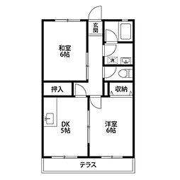 カームハウス弐番館[2階]の間取り