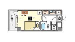 家具・家電付きピュアドームリバージュ平尾 B[8階]の間取り