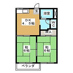 フォーブル田中 B棟[1階]の間取り