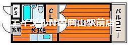 岡山県岡山市南区新保丁目なしの賃貸マンションの間取り