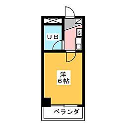 清水センチュリー21 302[3階]の間取り