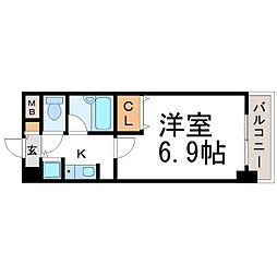 兵庫県尼崎市若王寺2丁目の賃貸マンションの間取り