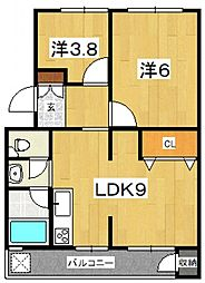 ブランヴェール[C5号室号室]の間取り