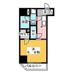 GRAN PASEO 浅草橋 9階1Kの間取り