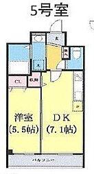 つくばエクスプレス 柏たなか駅 徒歩4分の賃貸マンション 3階1DKの間取り