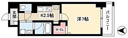 グランツェ名駅太閤通 9階1Kの間取り