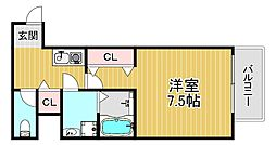 TOYOTOMISTAYPREMIUM梅田西II 3階1Kの間取り