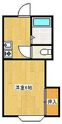 ウッディヒルズB[2階]の間取り