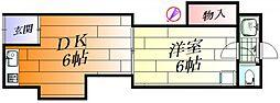 コーポ北之坊[2階]の間取り
