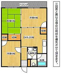 サンハイムヨシミ[3階]の間取り