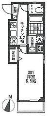 ビューノ五反野[3階]の間取り