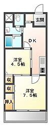 メゾンオミディ[2階]の間取り