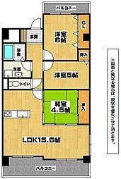 三島マンションI[3階]の間取り
