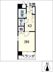 WEST POINT[3階]の間取り
