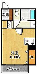 兵庫県宝塚市向月町の賃貸アパートの間取り