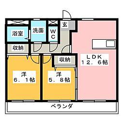 サンシャイン[3階]の間取り