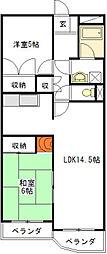 シャトーカワイ[4階]の間取り