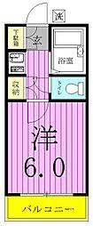 千代田ハイツ[105号室]の間取り