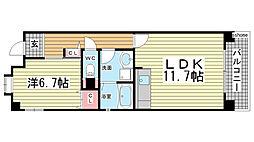 HAT神戸・灘の浜10号棟[6階]の間取り