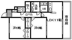 シャインメゾン 2番館[1階]の間取り