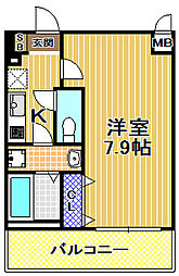 アドバンス大阪ベイシティ[5階]の間取り