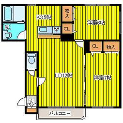 北海道札幌市北区太平十二条5丁目の賃貸マンションの間取り