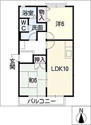 ロイヤルシャトー E棟[1階]の間取り