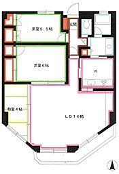 JR中央本線 三鷹駅 バス18分 北の台下車 徒歩3分の賃貸マンション 1階3LDKの間取り