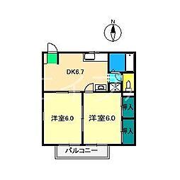 ファミールさち[1階]の間取り