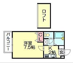 サンティール峯田A[1階]の間取り