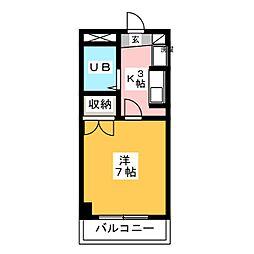 トゥ・エスポワール[2階]の間取り