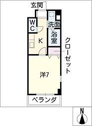 ピュアライフ[1階]の間取り