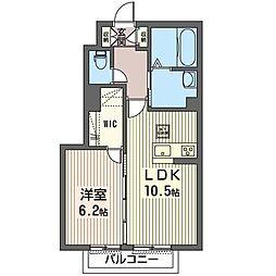 仮称 光陽台6丁目シャーメゾン 1階1LDKの間取り