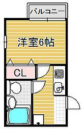 ハイツアンフィー[2階]の間取り