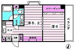 第一中商マンション[2階]の間取り