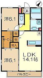 iスクエアwing[2階]の間取り