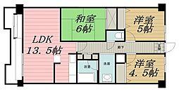 千葉県千葉市若葉区高品町の賃貸マンションの間取り