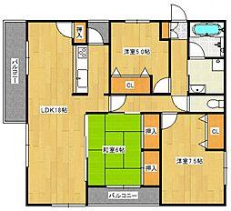 ライオンズマンション日吉町第2[4階]の間取り