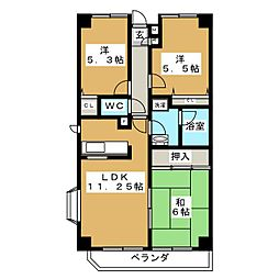 沖野マンションI[2階]の間取り