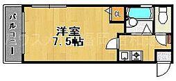 ボヌール西新東[2階]の間取り