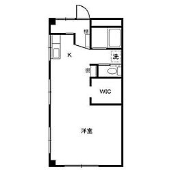 神奈川県厚木市戸室2丁目の賃貸マンションの間取り