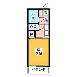 メゾン雅野[1階]の間取り