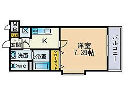サヴォイ博多エレメンツ[12階]の間取り