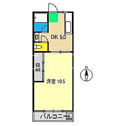 第二コーポサチ[3階]の間取り