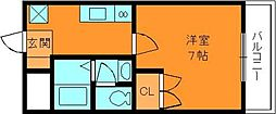 奈良県香芝市五位堂6丁目の賃貸マンションの間取り