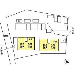 サンハイツミナガ B棟[102号室]の外観