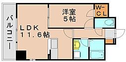福岡県福岡市博多区豊2丁目の賃貸マンションの間取り