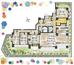贅沢に広々191平米で暮らす。1階につき下階への心配も無用です。南向きにより陽当たり良好。