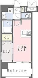 エンクレスト香椎セピア通り 3階1LDKの間取り