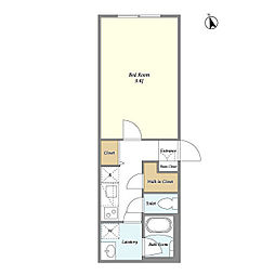 JR山手線 目白駅 徒歩5分の賃貸マンション 3階1Kの間取り